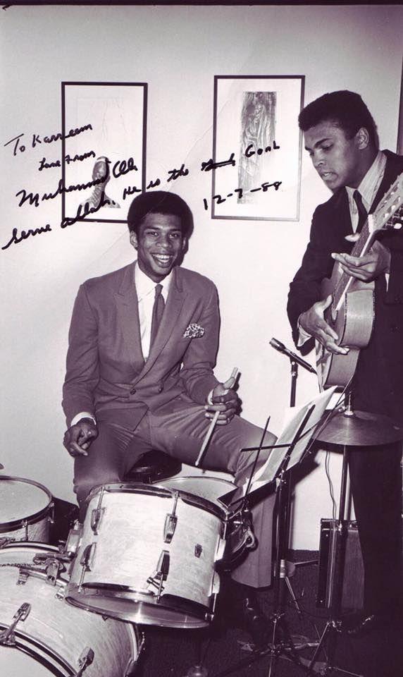 "Muhammad Ali and Kareem Abdul-Jabbar.. ""The Greatest"" Muhammad Ali REST IN PEACE"