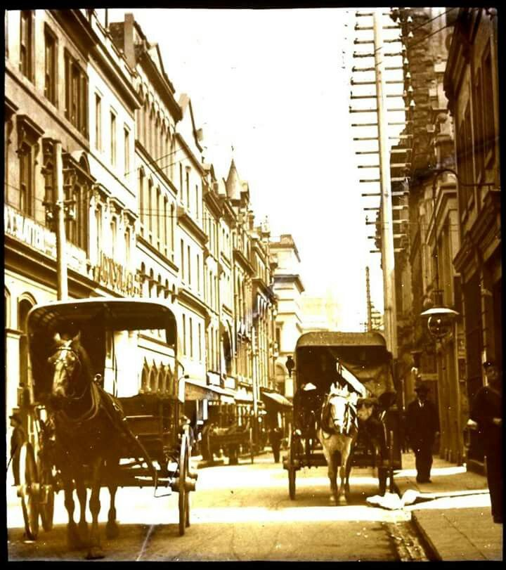 Little Collins St,Melbourne in 1875.