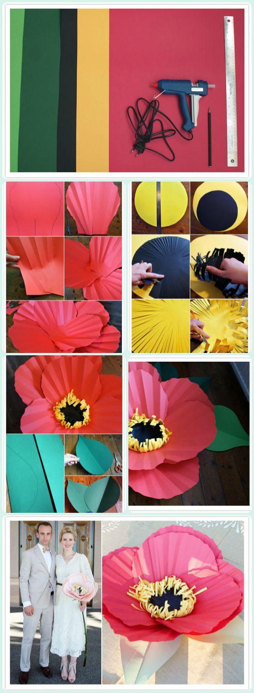 Manualidades casa hogar decoracion flores papel gigantes - Manualidades decoracion hogar ...