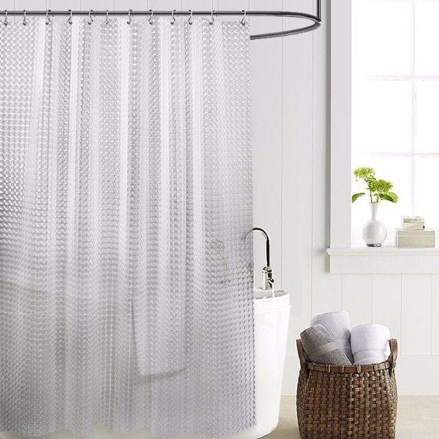 Sdarisb Brand Shower Curtain Waterproof Transparent Peva 3d High