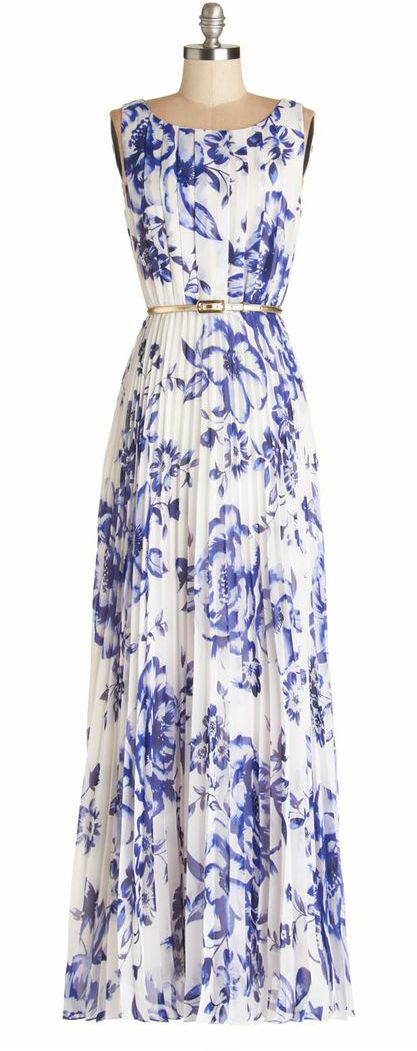 Blossoms Pleated Maxi