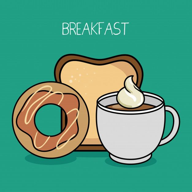 Dibujos Animados Desayuno Donut Cafe Pan Free Vector Freepik Freevector Comida Menu Cafe R Desayuno Dibujo Cafe Pan Plantilla De Menu De Restaurante