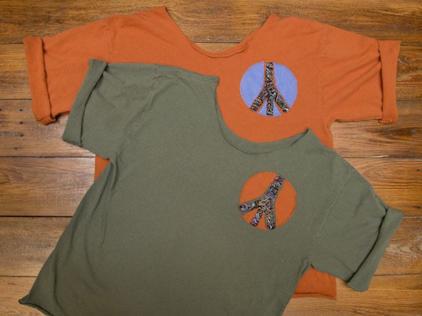 T-Shirt Upcyle with Peace Sign Patches >> http://blog.diynetwork.com/maderemade/2014/04/04/t-shirt-upcyle-with-peace-sign-patches/?soc=pinterest: Diy Ideas, Diy Styl, Diy Inspiration, Diy Crafts, Diy Clothing, Great Ideas