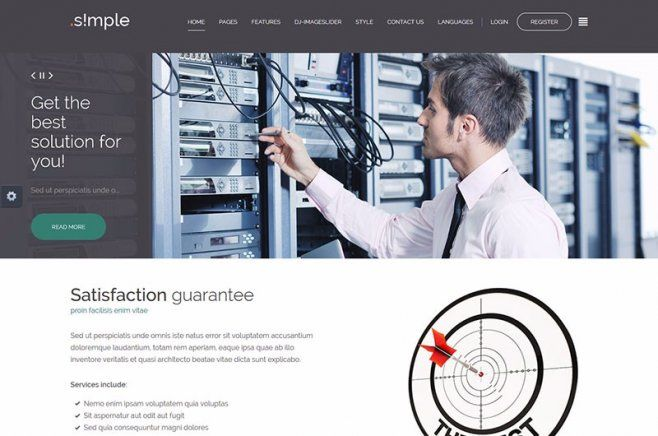 JM Simple is a multipurpose simple business Joomla template that will be ideal for companies operating in the areas of finance, marketing and new technologies. #marketing #Joomla #template #simple #finance #company #business #multipurpose https://www.joomla-monster.com/joomla-templates/i/3-business/138-jm-simple