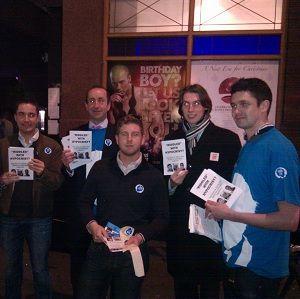 LGBT Tory protest outside of Ken Livingstone's Soho Fundraiser