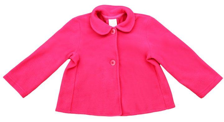 Casaco feminino infantil rosa.