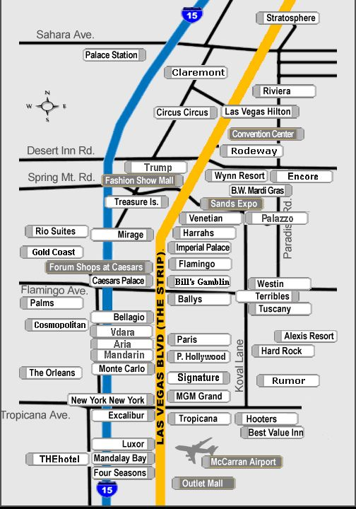 Las Vegas Strip Hotel Map This Will Definitely Come In Handy
