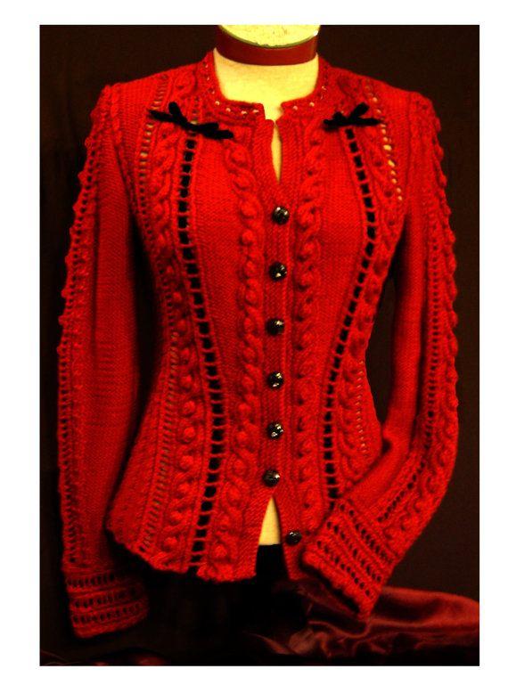 Ruby Cardigan Knitting Pattern PDF by whitelies on Etsy, $9.50