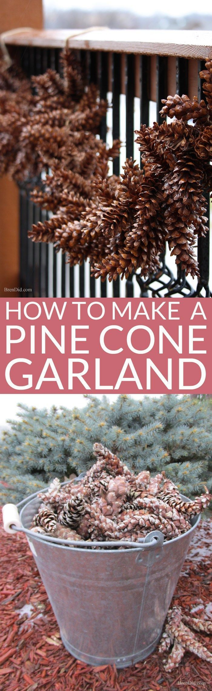 Learn how to make an pine cone garland for a touch of woodland style. This easy…