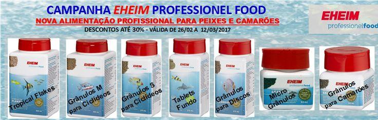 Campanha EHEIM Professionel Food - Nova Alimentação de Gama Profissional EHEIM | Aquacomets - Tudo para Aquariofilia e Lagos Ornamentais