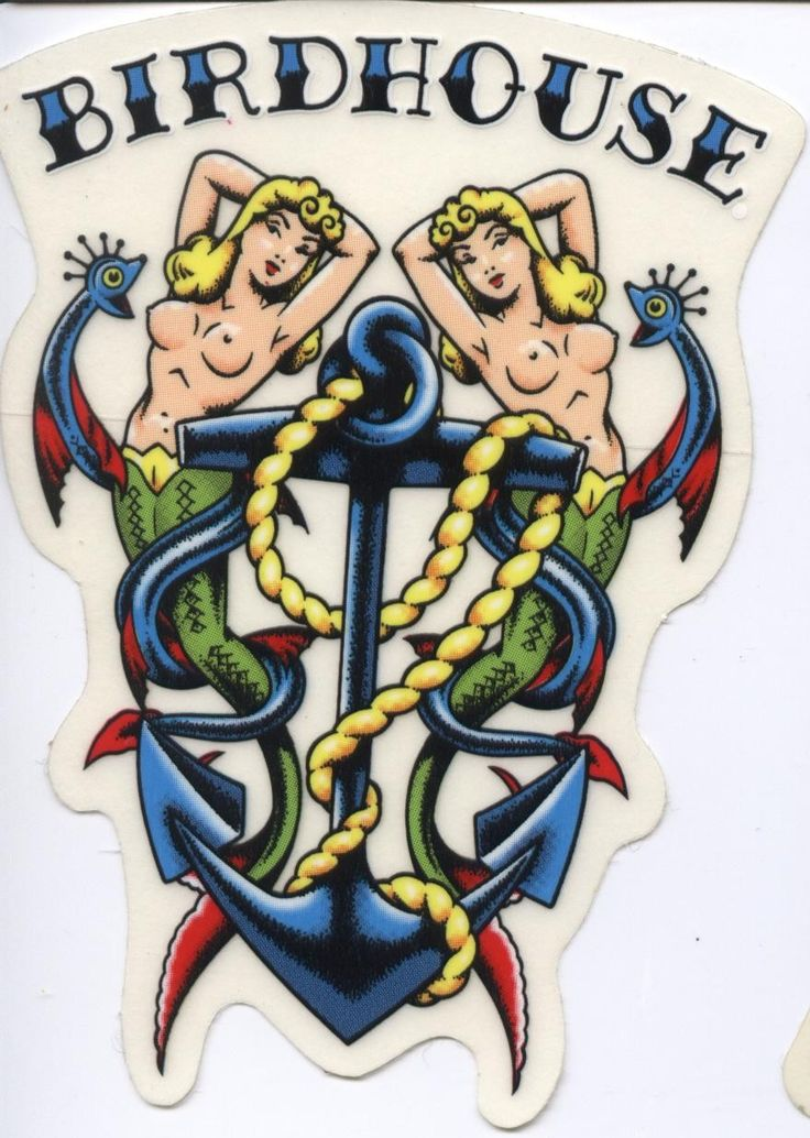 Birdhouse Skateboards Tattoo Sticker Tony Hawk. Click on picture to purchase.