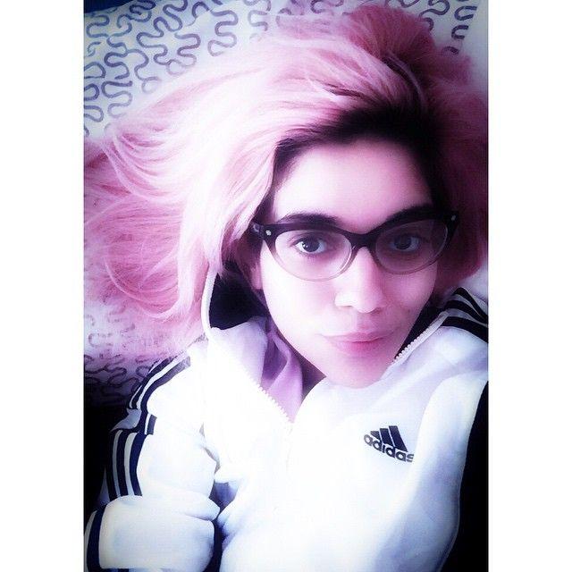 #pinkhair #pastelhair #dyehair #adidas