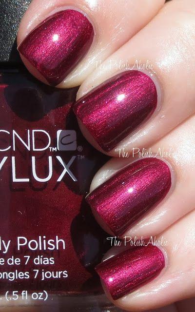 Cnd Masquerade Shellac Nail Polish Beautiful Shimmery Wine Red Color So Pretty Cosmetics