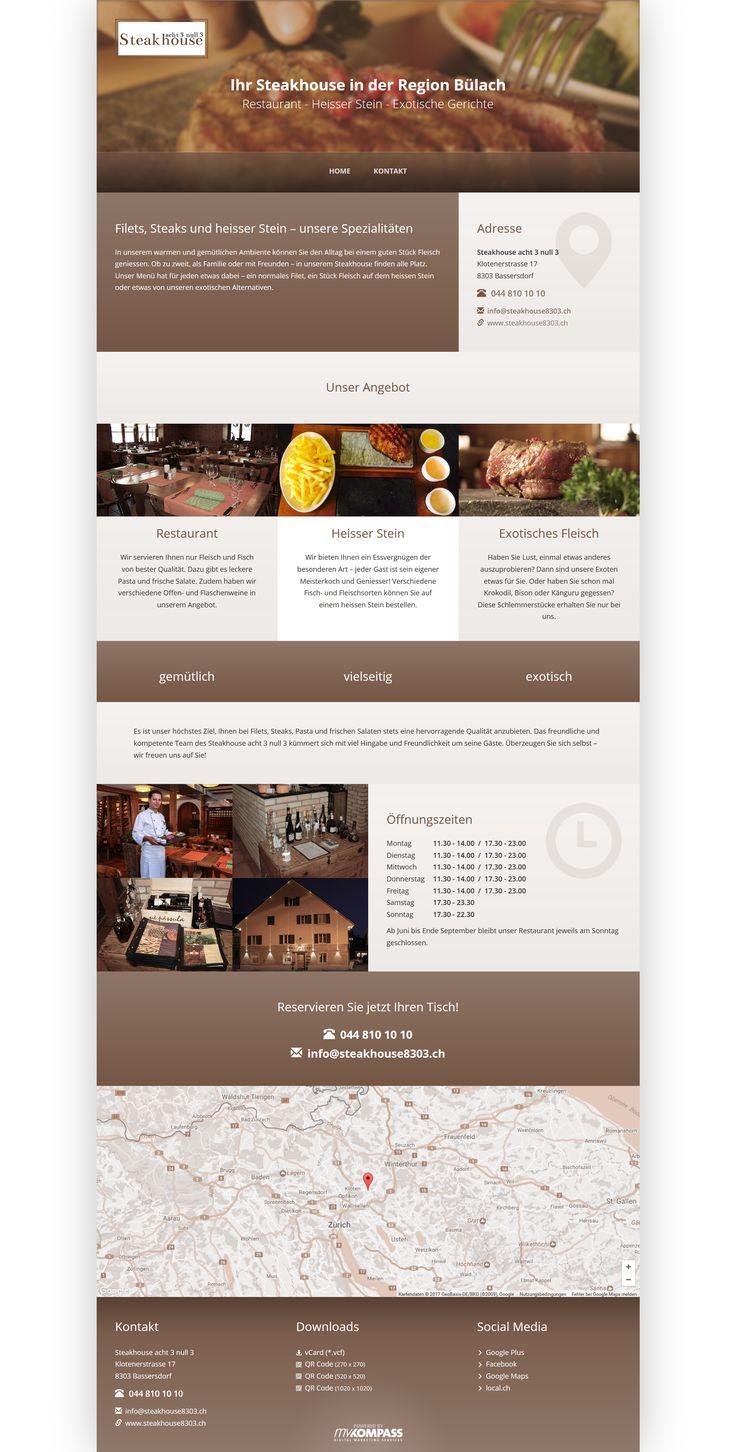 Steakhouse acht 3 null 3, Bassersdorf, Regio Bülach, Steakhouse, Restaurant, Heisser Stein, Exotisches Fleisch