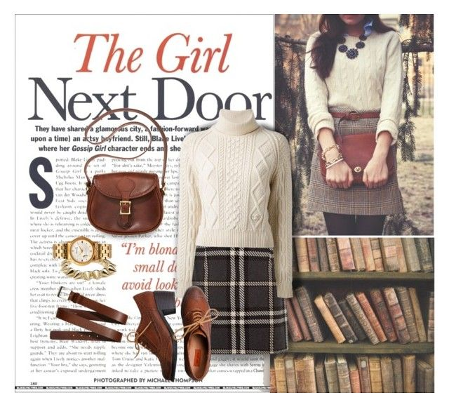 """""""The girl next door"""" by nordicstyle ❤ liked on Polyvore featuring CC SKYE, J.W. Hulme Co., American Apparel, H&M, Chanel and Miz Mooz"""