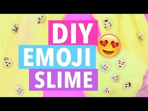 HOW TO MAKE DIY EMOJI SLIME -  EASY AND INEXPENSIVE! WORLD EMOJI DAY - YouTube