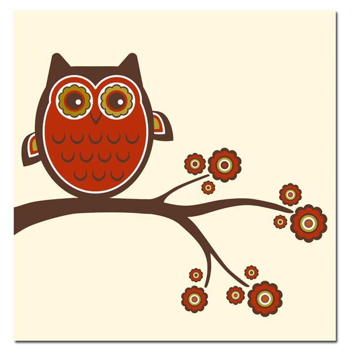 CARTOON OWL canvas wall art print   OWLS   Pinterest ...