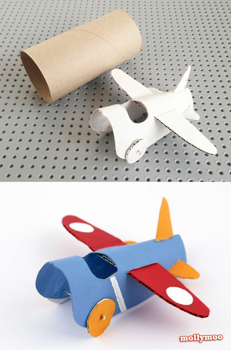 Toilet Roll Craft - Paper aeroplanes | MollyMoo