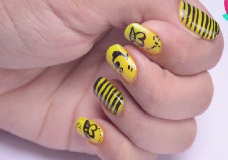 DIY Winnie the Pooh Nail Art Design Tutorial
