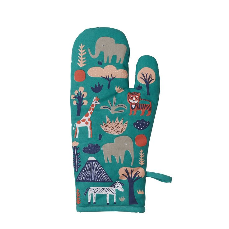 Donna Wilson Menagerie Oven Mitt: Featuring Donna Wilson's friendly Jungle, this oven mitt was designed with the hopes of encouraging home-cooking and collaborative experiments in the kitchen!