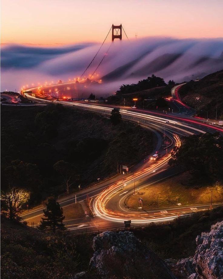 Golden Trails by Bruce Getty Photography #sanfrancisco #sf #bayarea #alwayssf #goldengatebridge #goldengate #alcatraz #california