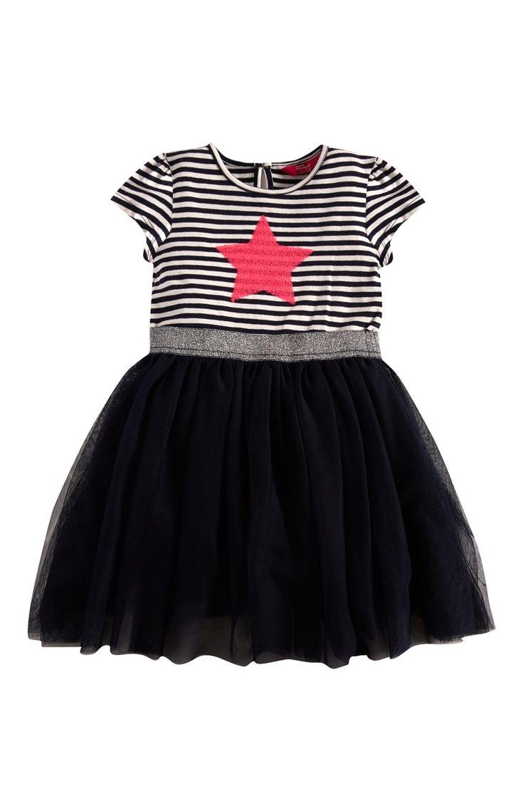 Black Star Print Tutu Dress