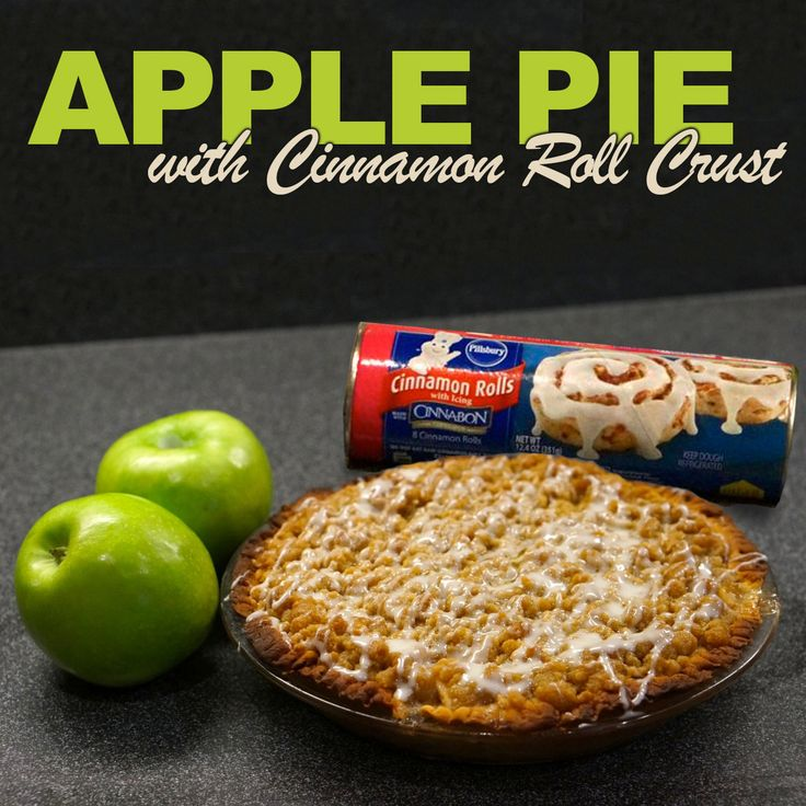 Apple Pie with Cinnamon Roll Crust