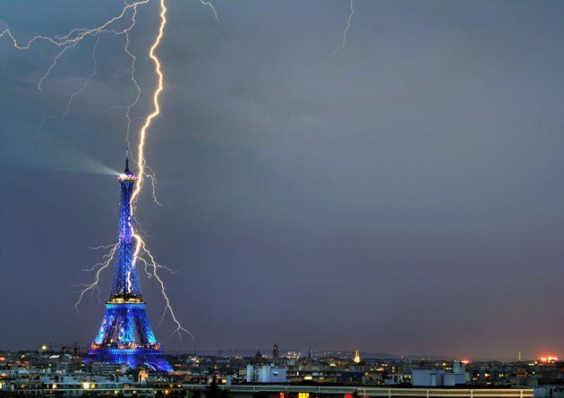 wow: Photos, Picture, Lightning Strike, Paris, Eiffel Towers, Nature, Photography