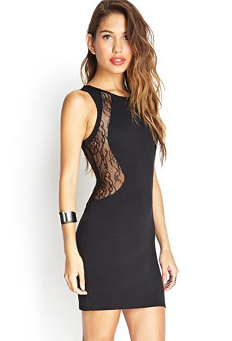 Forever 21 sweetheart lace bodycon dress
