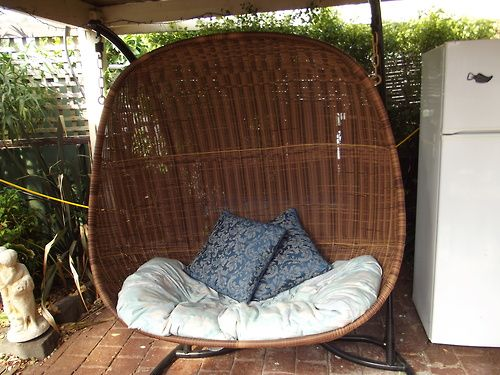 outside hanging chair.