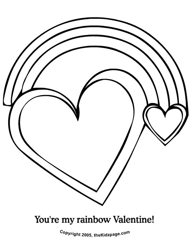 youre my rainbow valentine free coloring pages for kids printable colouring
