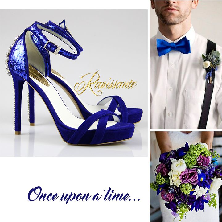 Electric blues for bold brides. Some fabulous shoes that will make the dress even lovelier!