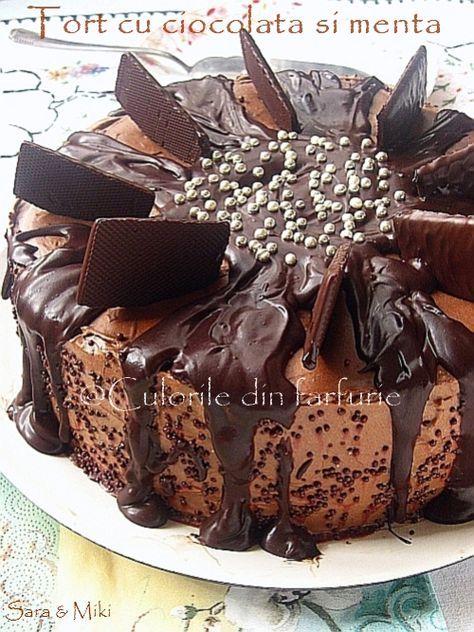 Tort cu ciocolata si menta ~ Culorile din farfurie