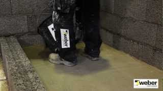 Avjämna golvet för golvvärme WeberSverige - YouTube