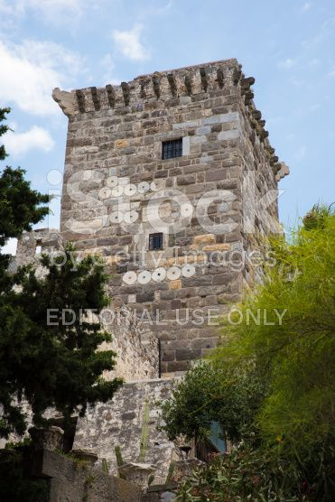 Tower of The St Peters Castle in Bodrum royalty-free stock photo