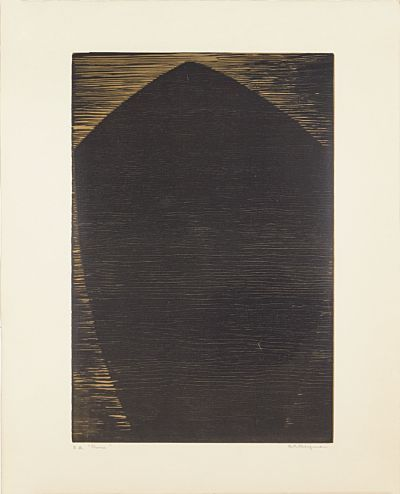 "Anna-Eva Bergman, tresnitt ""baug"", 1968"