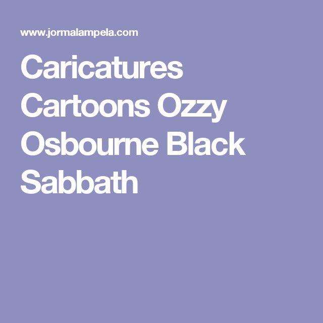Caricatures Cartoons Ozzy Osbourne Black Sabbath