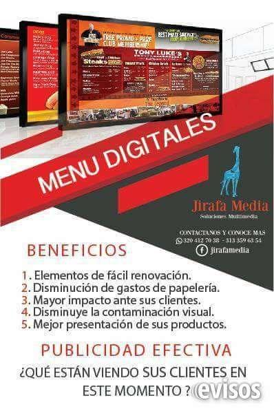 catalogo virtual / menu digital Impulsa tu empresa con el catálogo virtual y el menú dig .. http://bogota-city.evisos.com.co/catalogo-virtual-menu-digital-id-487381