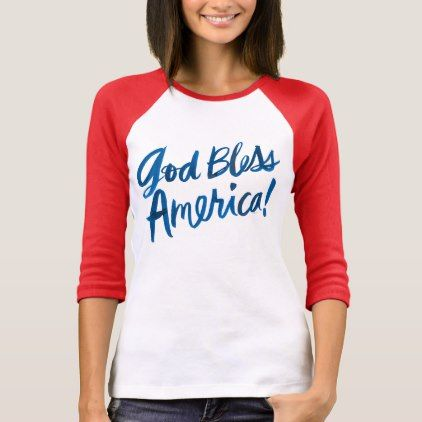 #stripes - #4th Of July | God Bless America T-Shirt