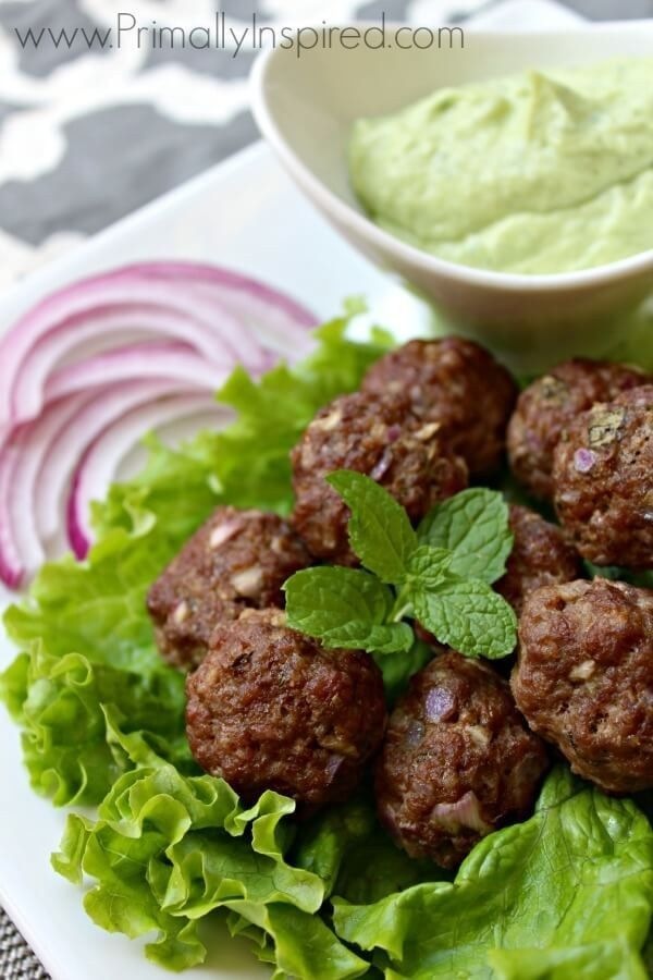 Greek Meatballs with Avocado Tzatziki Sauce | 37 Whole30 Recipes That Everyone Will Love