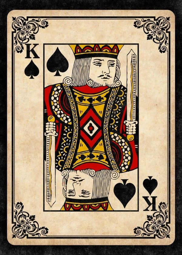 King of Spades by Remus Brailoiu | https://displate.com/displate/270920 | king, ace, hearts, spades, clubs, diamonds, card, cards, poker, gambling, casino, game, gaming | #kingofspades #king #cards #aceofhearts #aceofspades #ace #spades #hearts #clubs #diamonds #cardssuits