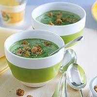 Recept - Spinaziesoep met croutons - Allerhande