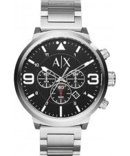 Mens Armani Exchange Mens Urban Silver Steel Chronograph Watch 139.00 Watches2U