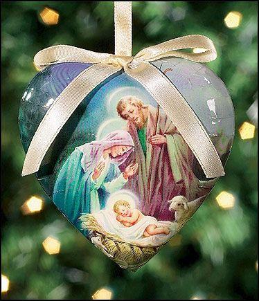 Sleep in Heavenly Peace Heart Shaped Decoupage Ornament