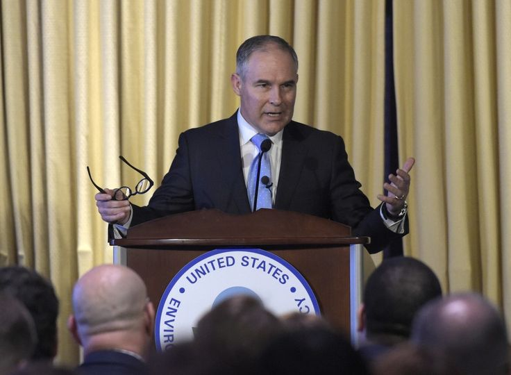 EPA chief pushing governmentwide effort to question climate change science. >>> A guy whose state political career was funded by oil companies is trying to tell us climate change is not settled science.  Yeah, that's believable.  There are legions of scientists who say otherwise.  And they aren't in the pockets of big oil.