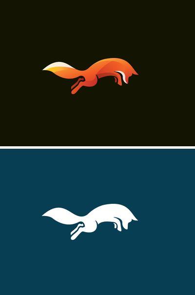 Simplistic fox logo