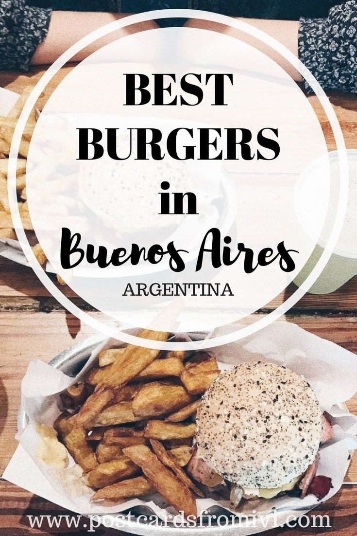 Find out where to find the Best Burgers in Buenos Aires, Argentina. The post includes a map with all the burger spots in the city.