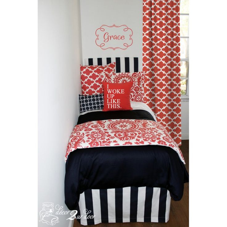 51 Best Images About Coral And Navy Bedding And Decor On Pinterest Custom Bedding Ux Ui