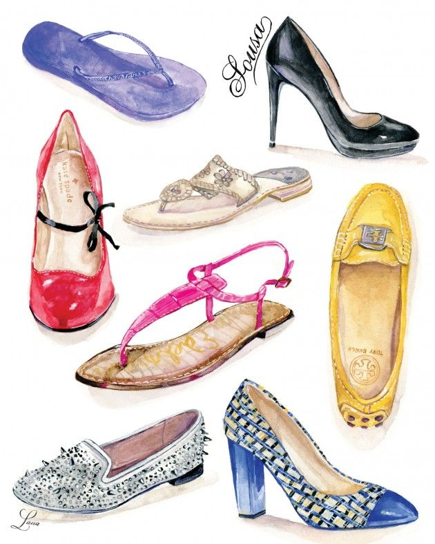 Lanas Shop | Custom Illustrated Shoe Print with your Last Name