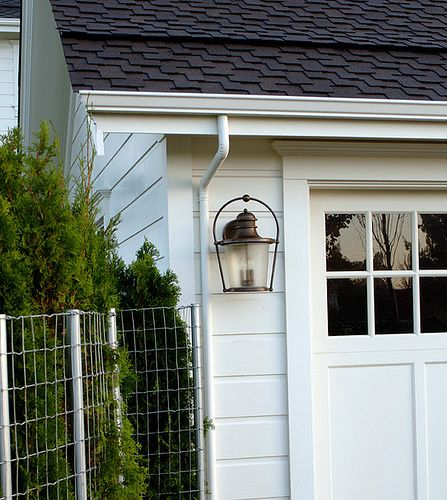 17 best images about garage lights outside on pinterest for Farmhouse garage doors
